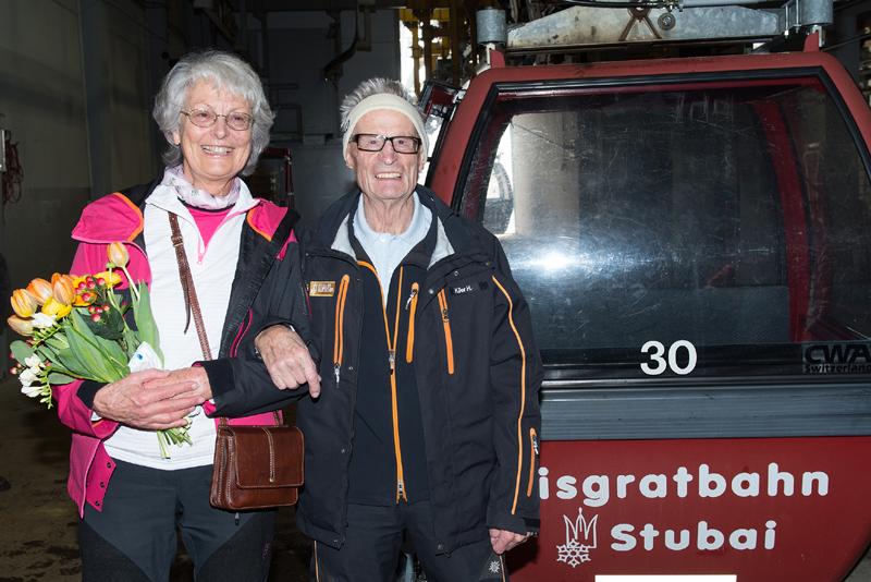 Dr Klier mit Frau und Eisgratbahn