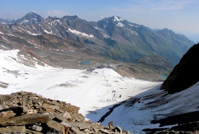 3 Blick auf den Stubaier Gletscher