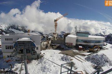 Bergstation der neuen 3S-Bahn am Stubaier Gletscher