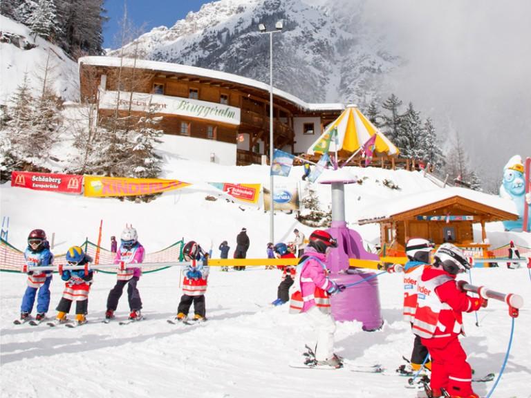 Skilehrern auf der Schlick