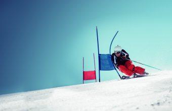 Rennläufer am Stubaier Gletscher