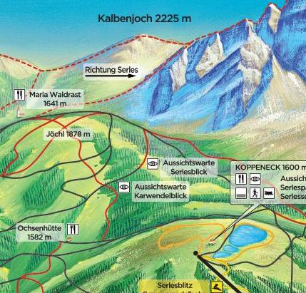 [Translate to it:] Tourismusverband Stubai Wanderung Koppeneck Maria Waldrast