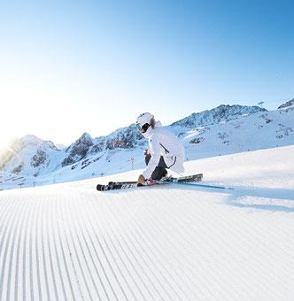 Skiing in the Stubai valley